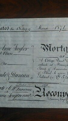 ANTIQUE Mortgage 1871County of Flint reconveyance