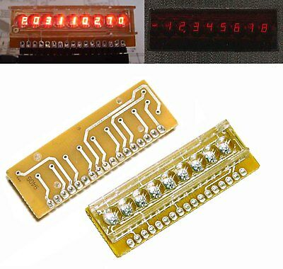 2pcs  7 seg. 9 digit LED display HP 5082-7441 calculator