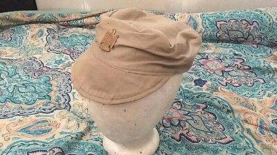 Iraq war iraq army tan hat with cutter tags ( army navy usmc oef )