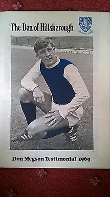 Don Megson Testimonial Brochure & Programme Sheffield Wednesday