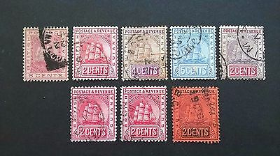 1876-90 .. New Guiana stamps -  SG# 68,126,127,141,156,157,161,162