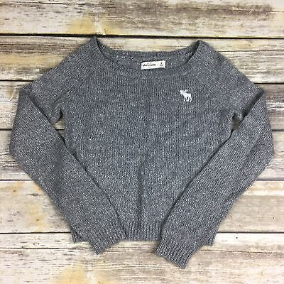 ABERCROMBIE KIDS Girl's Size Medium Gray Glitter Pullover Sweater