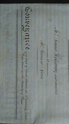 ANTIQUE Mortgage 1852  conveyance Bramley Lane,  Flint, Holloway and Reece