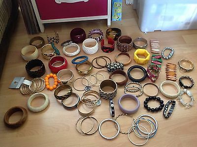 Over 150 bangles and braclets - jewellery job lot,