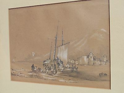 Old Antique Drawing Painting signed dated 1851 Royal Medicine James Atkinson ?