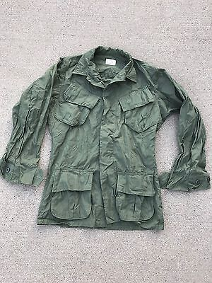 VTG 60s 70s VIETNAM JUNGLE JACKET RIPSTOP POPLIN SIZE XS SHORT DEADSTOCK
