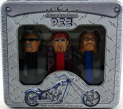 PEZ Candy Dispensers Orange County Choppers Collectible Tin Set 2006 Used