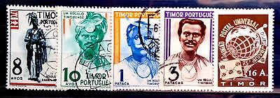 Small used collection of Timor Portugese as scan