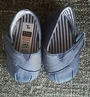 Tu by Sainsburys Baby Girl Denim Shoes 6-9 Months