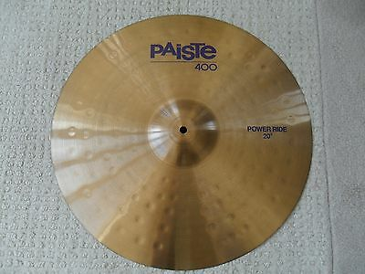 "Paiste vintage 400 20"" power ride cymbal"
