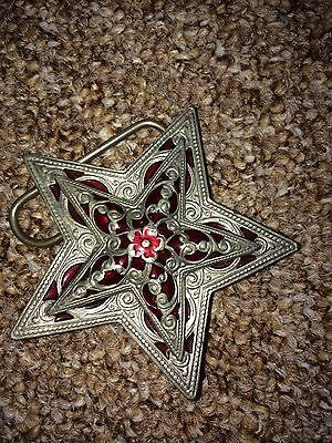 Beautiful Star Belt Buckle with rose detail
