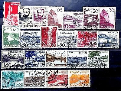 Small used collection of Mozambique Portugal as scan