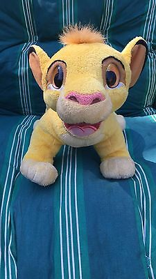 "Disney Lion King Talking Simba Plush MOVING MOUTH AND EARS ""read Description"""