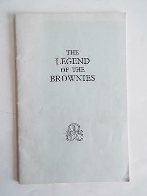 THE LEGEND OF THE BROWNIES by SHEILA WOOD 1974 - A PLAY FOR BROWNIES - V.G.C