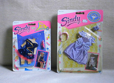 Sindy Bridesmaid + Pop Star Collection Lot X 2 Mosc New Hasbro 1991 Outfit Dress