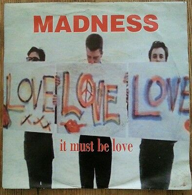 "Madness, It Must Be Love, 7"" Vinyl Single."