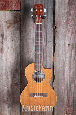 Cordoba 20 TM CE Solid Mah Top Cutaway Tenor Acoustic Electric Ukulele Satin Uke