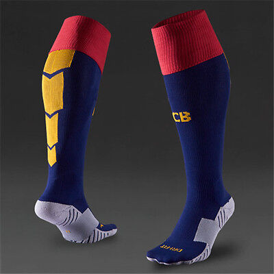 US Size 5.5-8 Football Soccer Socks Barcelona FCB Barca Fútbol Club Spain Espana
