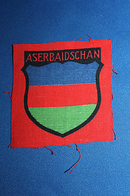 WW2 German Army 'Aserbaidschan' Eastern People Volunteer Cloth Sleeve Shield