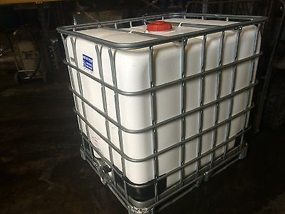 1000 Litre IBC Water Storage Tank - White - Perfect Condition.