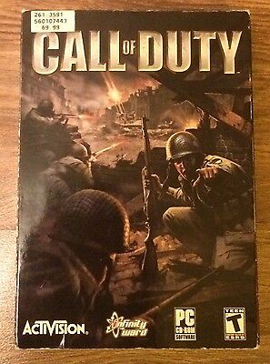 Call Of Duty (PC) Original 2003 Game Complete in Box