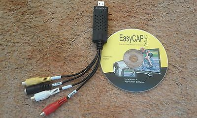 EasyCAP Capture USB 2.0 Audio Video Capture Adapter TV VHS DVD + S-Video Cable