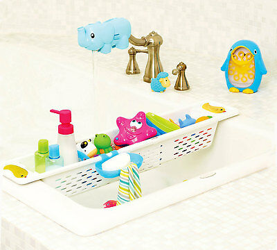 Munchkin Bath Toy Storage Organiser Quack Bath Toys Adjustable Caddy