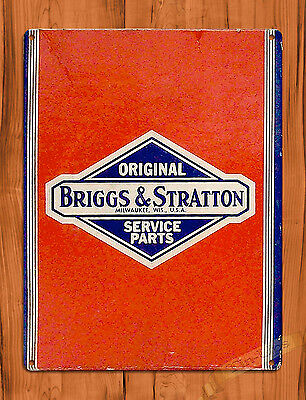 "TIN SIGN ""Briggs And Stratton"" Vintage Garage Rustic Wall Decor"