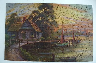 Vintage Genuine Lumar Jigsaw Puzzle (No. 111 - The Old Jetty)