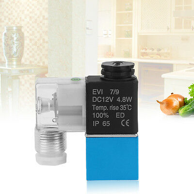 """Water Oil Liquid Water Solenoid Valve 1/4"""" 2 Way Normally Closed 12V DC RS"""