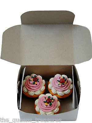 """3 CUPCAKE MUFFINS & BOX for 18""""  American Girl Doll Kitchen Food & Accessories"""