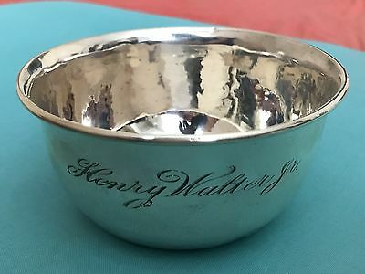 "Antique Sterling Silver Baby Bowl - 4 3/8"" Diameter - 67 Grams"