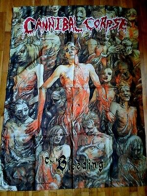 CANNIBAL CORPSE vintage OFFICIAL poster flag 1993 THE BLEEDING deadstock NEW