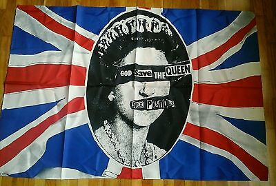 OFFICIAL 1977 SEX PISTOLS poster flag JAMIE REID C VINTAGE RARE punk COLLECTORS