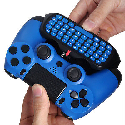 Practical 2.4G Wireless Bluetooth Keyboard Keypad Chatpad for PS4 Slim RS