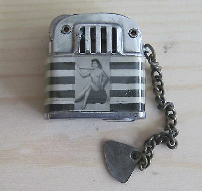 "Vintage Mini Lighter Naked Lady(S)  1"" X 1"" 1940's"