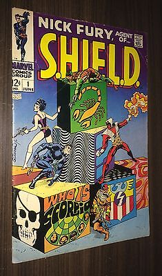 SHIELD #1 -- June 1968 -- Jim Steranko -- Nick Fury -- VG+ Or Better