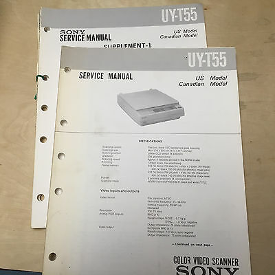 Sony Service Manual for the UY-T55 Color Video Scanner ~ Repair