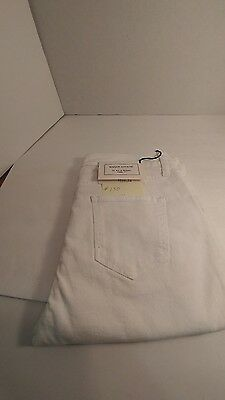 Maison Kitsune Straight Cut Jeans White Made IN Italy Size 32  #150