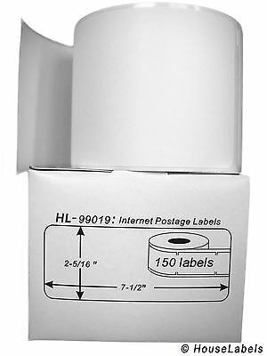 1 Roll of 1-Part Ebay / Internet Postage Labels fits DYMO LabelWriters 99019