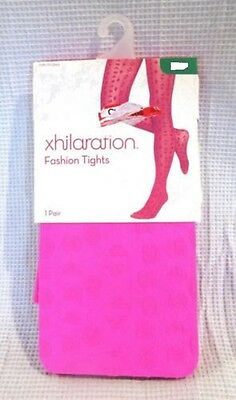 New Xhilaration Girls Fashion Tights - 1 Pair - Hot Pink Azalea