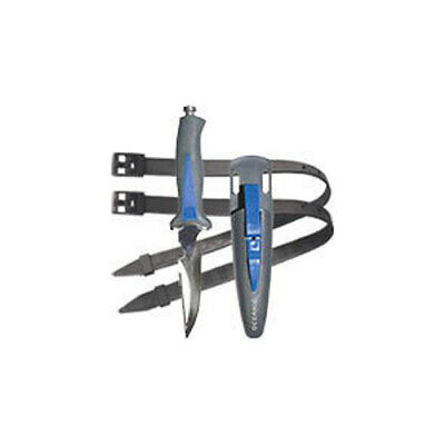 Oceanic Scorpion Scuba Diving Sharp Tip Knife with Sheath and Straps Dive Knife