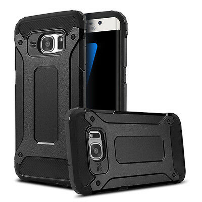 Black Luxury Armor Case For Samsung Galaxy S7 EDGE Back Cover Protector