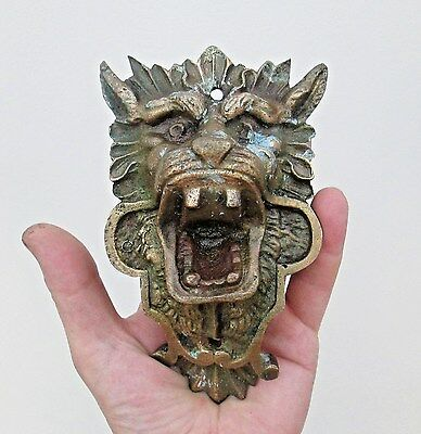 Fine Antique 19th Century Brass or Bronze Plaque - Chinese Guardian Dog of Foo