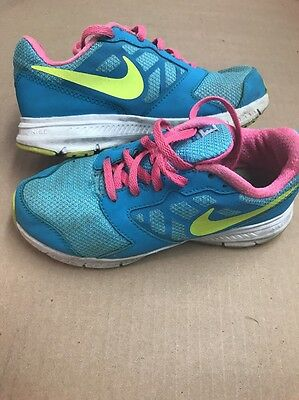 NIKE Downshifter 6 Teal Pink Athletic Sneaker Shoes Youth Girls Size 1