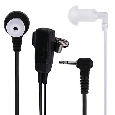1 Pin Covert Acoustic Tube Earpiece Headset for Motorola 2 Two Way Radio RS