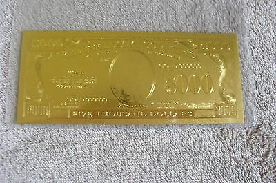 5000 Us Gold Banknote