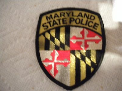 Maryland State Police Shoulder Patch - 3 3/4 inches tall by 3 inches wide - Used