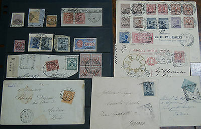 Tripoli Di Barberia Reg Postmarks 3034 3051 Estero Used Stamps Covers Postcards