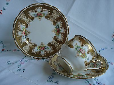 "STUNNING Royal Albert ""Royalty"" Bone China Cabinet Cup Saucer & Plate - RARE"